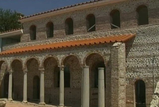 The Bishop's Basilica of the Ancient Roman and Early Byzantine city of Parthicopolis in Bulgaria's Sandanski. Photo: TV grab from BNT