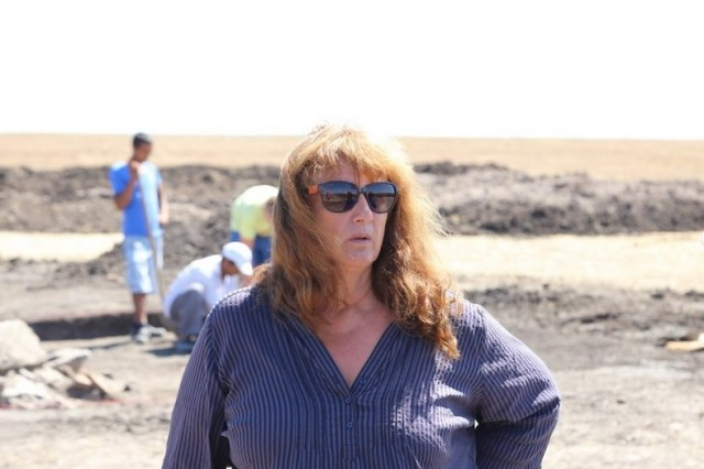 Archaeologist Daniela Agre from the National Institute and Museum of Archaeology in Sofia on site near Boyanovo. Photo: ElhovoNews