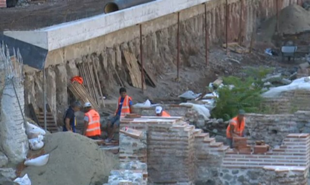 The open-air museum of Ancient Serdica in the downtown of the Bulgarian capital has been delayed several times. Photo: TV grab from News7