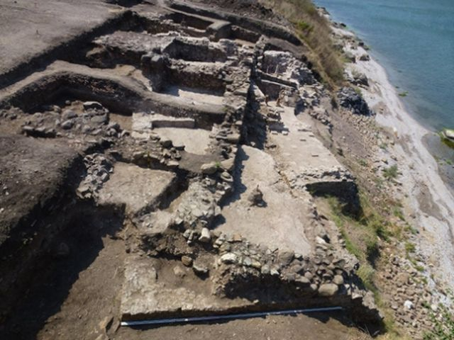 The excavated ruins of the Burgos (Poros) Fortress on Cape Foros, on the Black Sea coast in Bulgaria's Burgas. Photo: Burgas Regional Museum of History