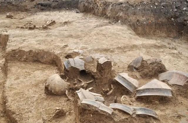A total of four Chalcolithic graves have been found in the necropolis in Kamenovo so far. Photo: Darik Razgrad