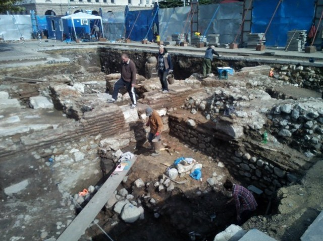 The excavations on the St. Nedelya Square in the Bulgarian capital Sofia have revealed more of the ruins of ancient Serdica. Photo: Vesti
