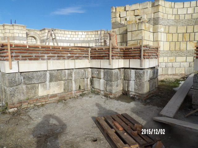 Bulgaria's National Museum of History in Sofia has released recent photos from the archaeological restoration of the 9th century Great Basilica in the early medieval Bulgarian capital Pliska. Photo: National Museum of History