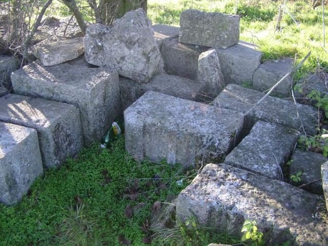 Stones from the 9th century AD Great Basilica in the then Bulgarian capital Pliska which were removed from the building in the 19th century by the Ottoman Turks but were left over from the Ottoman railway construction efforts can still be seen lying around the abandoned Kamenyak train station in Northeast Bulgaria. Photo: National Museum of History