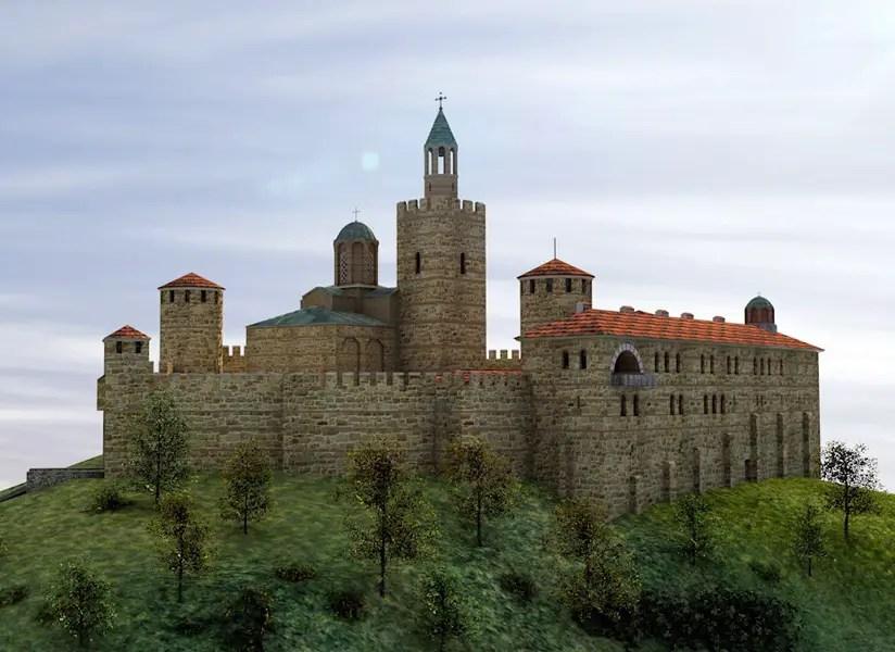3D Model of Tsarevets Hill Fortress Shows Bulgaria's Late Medieval Capital Veliko Tarnovo in 14th Century