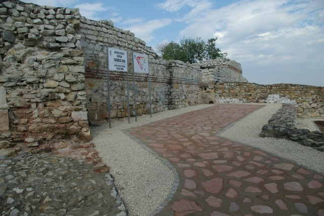 The partly restored ruins of the Ancient Roman city and fortress of Montanesium, today's Montana in Northwest Bulgaria, which had a major Early Christian basilica right outside its fortress wall. Photo: Montana Regional Museum of History