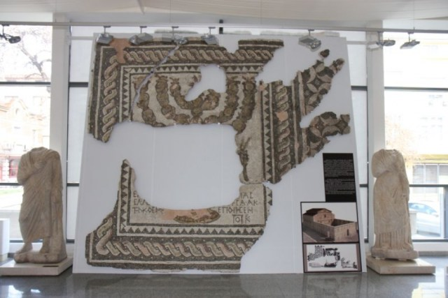 Other views of the newly restored mosaics from the Antiquity Synagogue in Bulgaria's Plovdiv, and its model reconstruction. Photos: Plovdiv Online