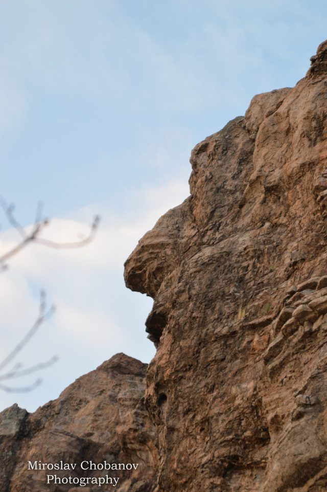 The third side face human profile hewn into the Eagles' Rocks shrine is not so well preserved; it, too, is believed to represent a male figure. Photo: Miroslav Chobanov, Mediacafe
