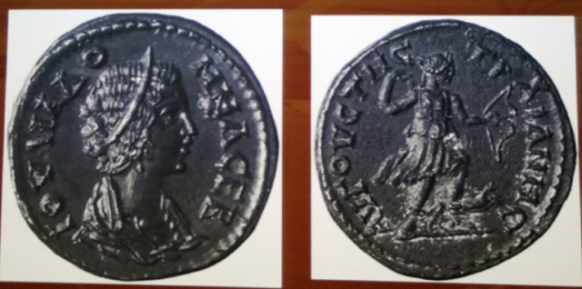 A coin from Augusta Traiana showing the young Empress Julia Domna with her hair up, on one side, and goddess Artemis on the other. Photo: Stara Zagora Regional Museum of History