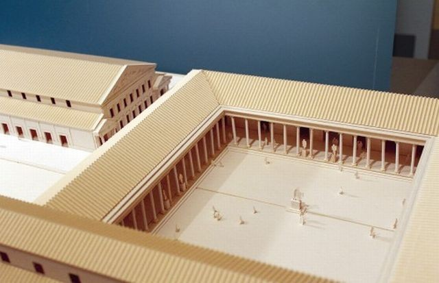 A model of the central square (forum) of the Roman city of Nicopolis of Istrum, which will be featured in the new exhibition of the Veliko Tarnovo Museum. Photo: Yantra Dnes daily
