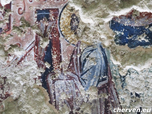 Surviving frescoes from one of the total of 15 medieval churches of Cherven. Photo: Cherven.eu