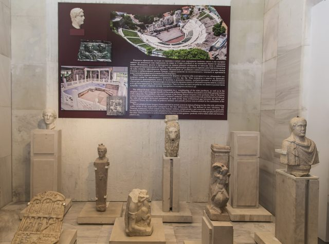 Some of the Ancient Roman statues displayed in the new exhibition of the National Museum of History in Sofia which also features four newly found busts of Roman emperors and empresses. Photo: National Museum of History