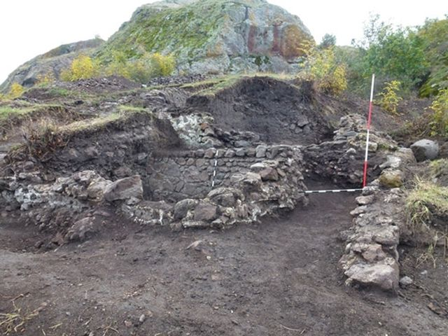 Exposed archaeological structures at the Rusocastro Fortress located in Kameno Municipality, Burgas District, in Southeast Bulgaria. Photo: Burgas Regional Museum of History