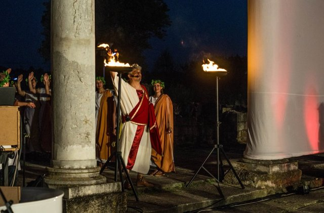 The opening of the 2016 Ancient Abritus Festival in the Roman villa urbana in the ancient city near Bulgaria's Razgrad. Photo: Razgrad Regional Museum of History Facebook Page