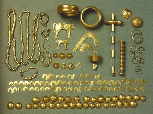 Some of the most famous artifacts from the 6,500-year-old Varna Gold Treasure, part of the collection of the Varna Museum of Archaeology. Photo: Visit Varna