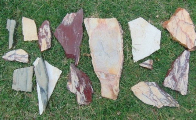 Numerous fragments of colored marble have been found in the latest digs in the Nebet Tepe Fortress. Photo: BGNES