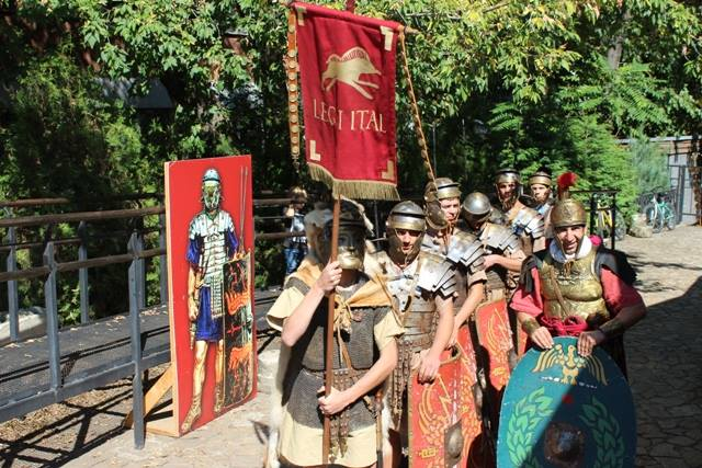Roman legionnaires during the 5th Roman Market at the Sexaginta Prista Fortress in Bulgaria's Ruse. Photo: Ruse Regional Museum of History Facebook Page