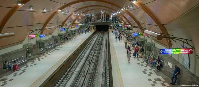 The Serdika II Metro Station in downtown Sofia is lined with glass-cased displays of archaeological finds. Photo: Archaeology Travel