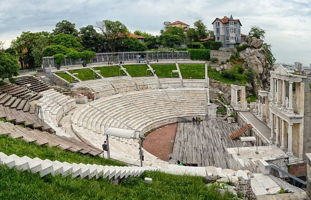 A modern-day view of the marble seats and the stage of the Antiquity Theater in Bulgaria's Plovdiv. Photo: VisitPlovdiv, Plovdiv Municipality