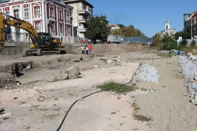 The archaeological site of the Great Basilica in Bulgaria's Plovdiv. Photo: Plovdiv24