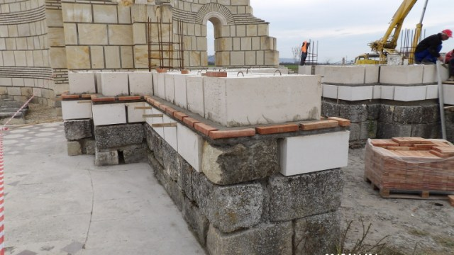 The ongoing restoration of the Great Basilica in Pliska. Photo: National Museum of History