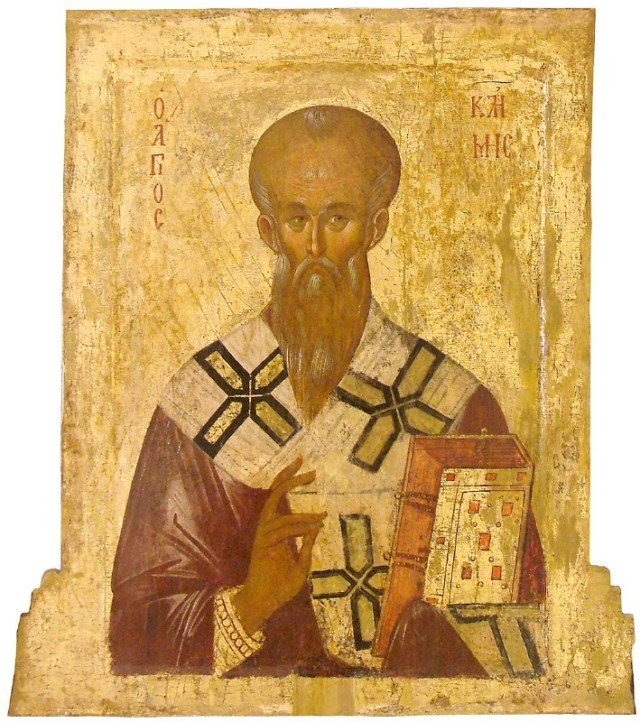 A 14th century icon from Ohrid (today in the Republic of Macedonia) depicting St. Kliment Ohridski, one of the most influential medieval Bulgarian scholars and clergymen. Photo: Wikipedia