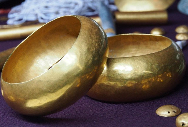 Prehistoric gold vessels from the Varna Treasure. Photo: BGNES
