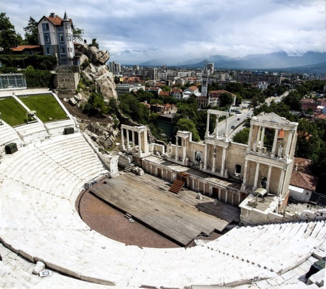 The newly found inscription reveals the Antiquity Theater in Bulgaria's Plovdiv was built by Flavius Titus Cotys ca. 90 AD, i.e. 2-3 decades earlier than previously thought. Photos: VisitPlovdiv, Plovdiv Municipality