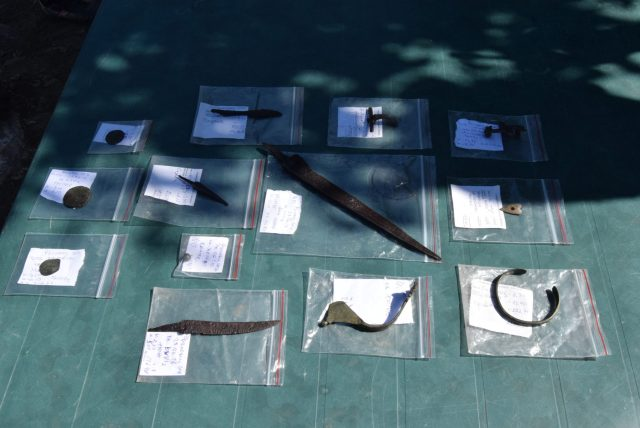 Some of the artifacts discovered during the 2016 excavations of the Rahovets Fortress. Photo: Gorna Oryahovitsa Municipality