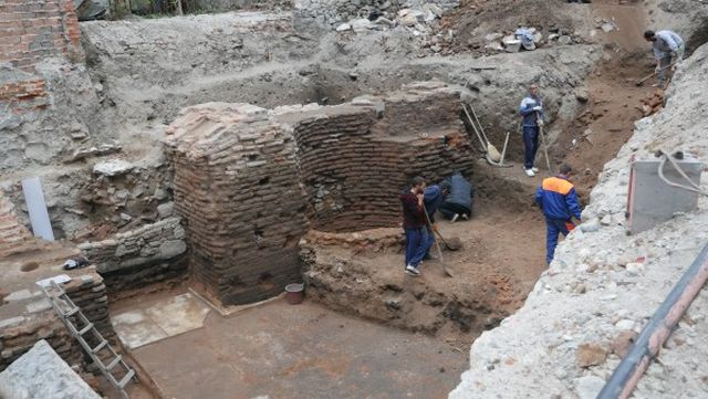 The newly discovered Ancient Roman bath house in Bulgaria's Plovdiv dates to ca. 2nd century AD. Photo: Plovdiv24