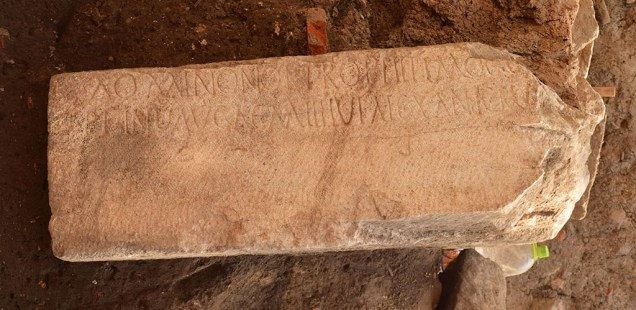 303 AD Inscription Dedicated to Emperor Diocletian over Tetrarchy in Roman Empire Discovered by Archaeologists in Bulgaria's Plovdiv
