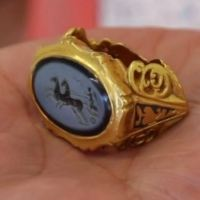 3rd Century AD Ancient Roman Gold Ring Found by Amateur Detectorists in UK's Somerset