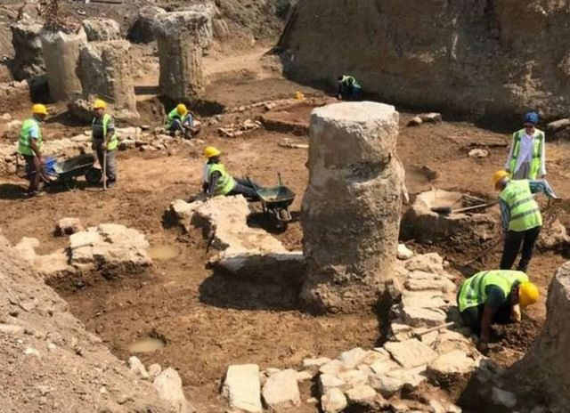 Byzantine Coastal City Unearthed in Istanbul's Asian Part during Restoration of Historic Train Station in Turkey