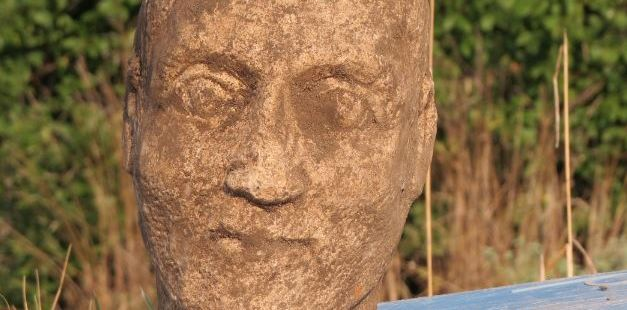 Statue Head of Roman Emperor Aurelian, Unknown Colonnade Found in Ancient Rome's Danube Colony Ulpia Oscus in North Bulgaria