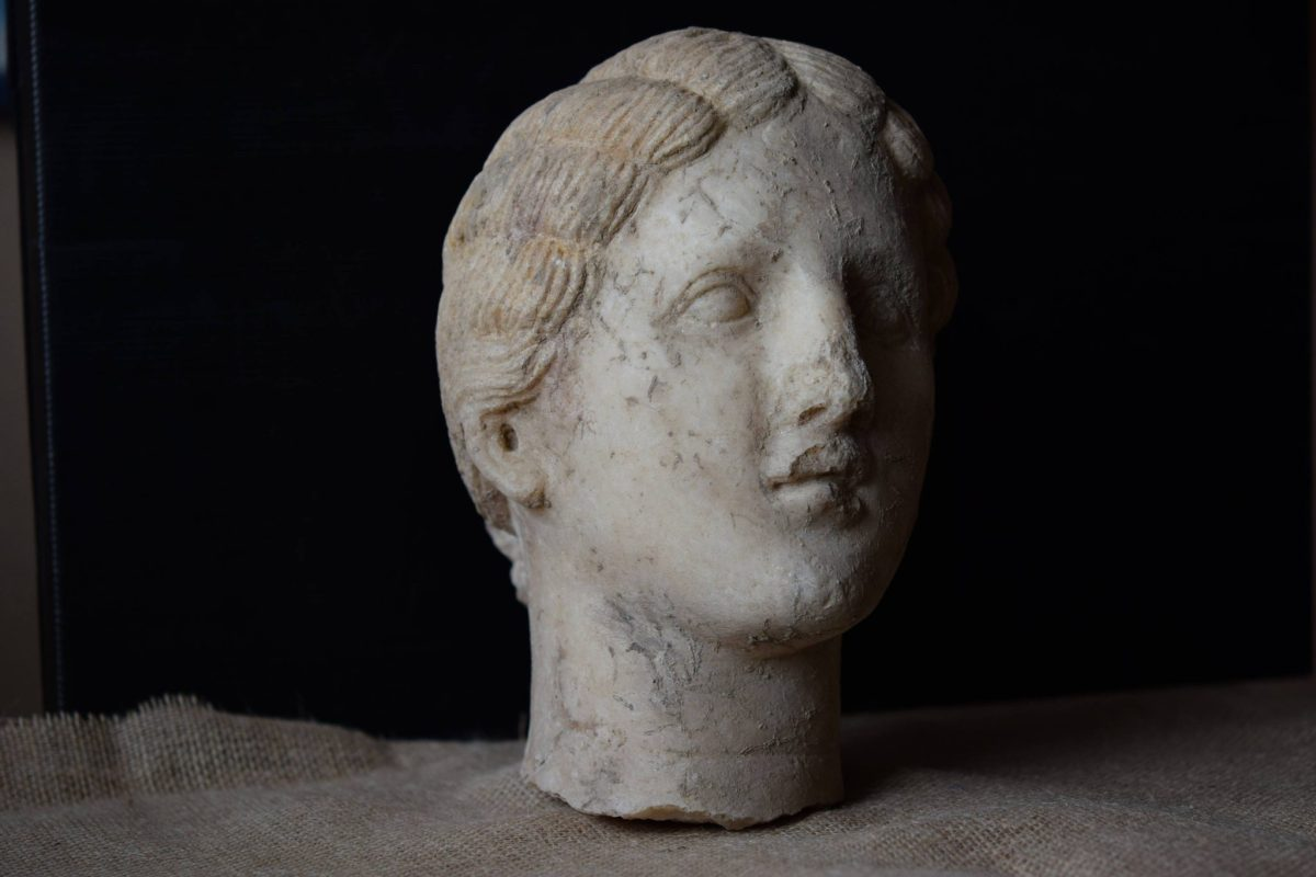 Blond Roman Woman's Statue Head Found in Ancient Heraclea Sintica in Southwest Bulgaria, Hints at Building Ritual