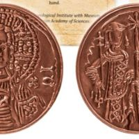 Cup-Shaped Copper Coin of Tsar Ivan Asen II of Second Bulgarian Empire Released by National Bank, Archaeology Museum in Replica Collection