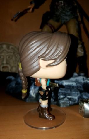 Lara Croft Funko Pop! figure (side view)