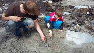 Working on a community project at Swandro