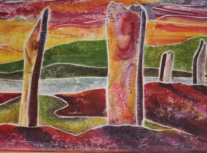 Stones of Stenness - Painting by Jeanne