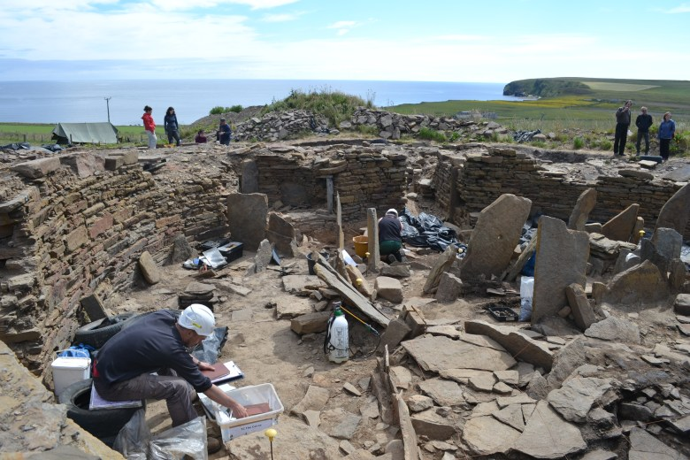 Working inside the broch today