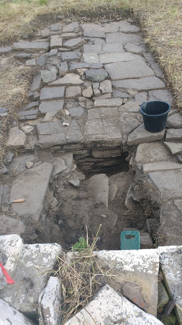 Trench 19 showing earlier building