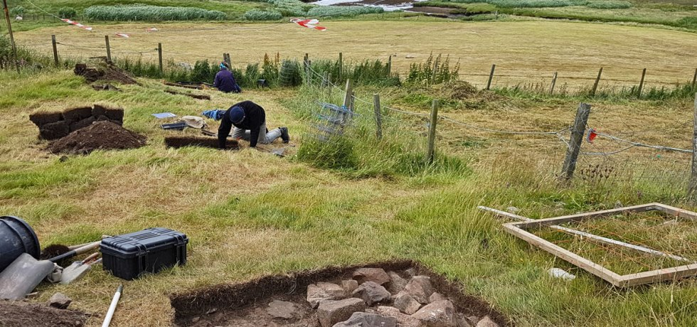 A dig with a view. Excavations under way at Gunnister, Shetland. (Dan Lee)