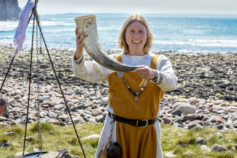 Ragnhild Ljosland at Rackwick, Hoy, Orkney. (Mark Woodsford-Dean)