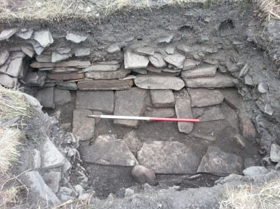 Possible Norse wall at the base.