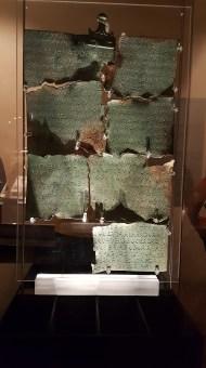 Etruscan Plaque recording a land sale