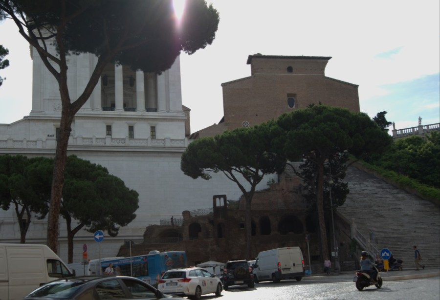 View of the Insula Dell'ara Coeli from the Piazza D'Aracoeli