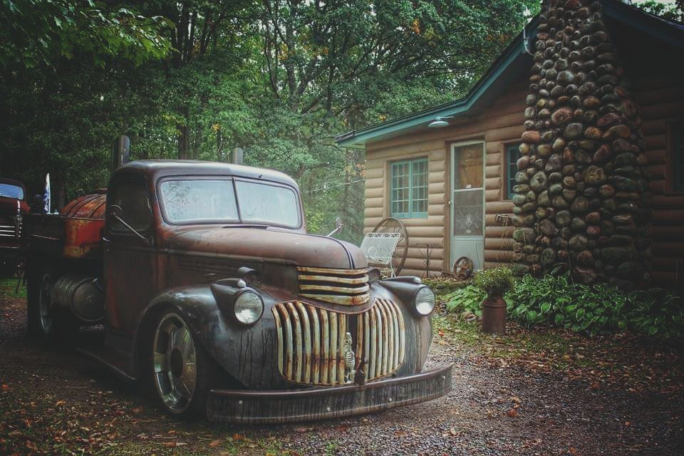 Rat Rod Fuel Truck at the cabin