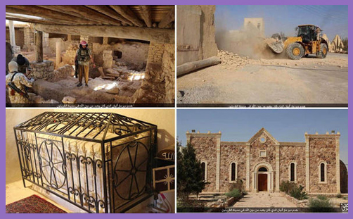 ISIS destroys the the ancient Monastery of Mar Elian