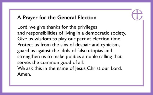 Despair at the Church of England's General Election prayer