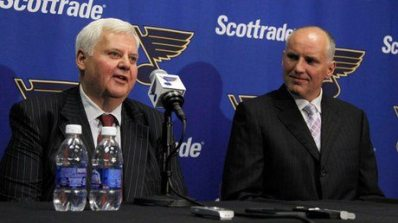 Coach Ken Hitchcock and Doug Armstrong have major decisions to make moving forward (Photo courtesy of NHL.com).